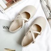 瑪麗珍鞋瑪麗珍小皮鞋女復古芭蕾單鞋女2020春款配裙子的鞋仙女氣質晚晚鞋 JUST M