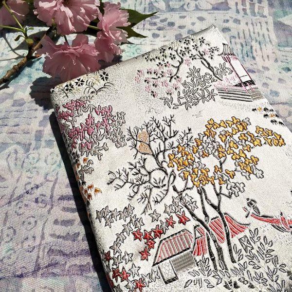 【西亭】布藝手帳本織錦布面復古中國風方格筆記本創意禮品厚