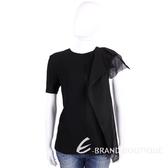 FENDI 黑色拼接設計短袖上衣 1510159-01