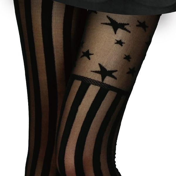 香川絲襪 星星直紋褲襪 NO.685-37