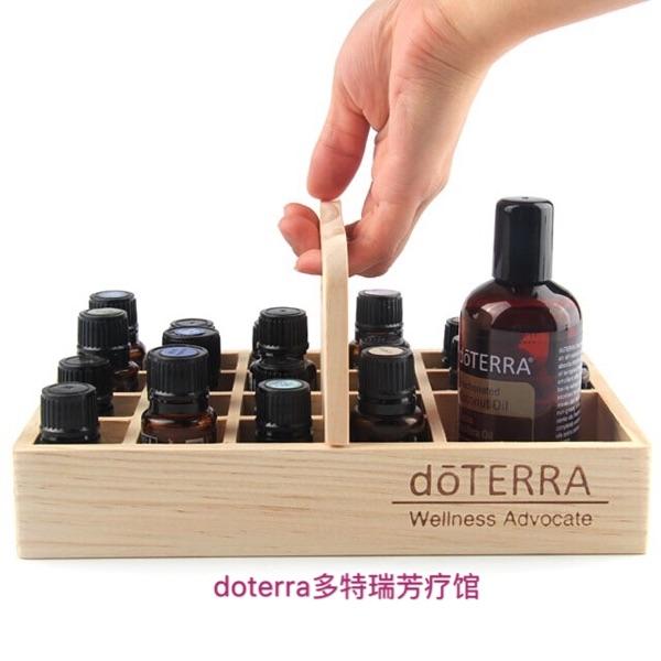 精油收納箱 DOTERRA多特瑞精油展示盒提籃木盒收納精油木盒21格 艾家 新品