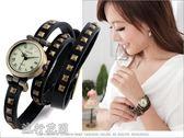 韓版復古羅馬纏繞式皮帶女士手錶時尚個性防水石英錶女學生潮新品 流行花園