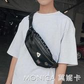 韓版潮男皮質小胸包斜背包 休閒街頭手機包腰包 戶外騎車背包背包 莫妮卡小屋
