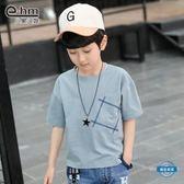 男童短袖童裝男童短袖T恤兒童夏天半袖男孩上衣中大童正韓潮 (一件免運)