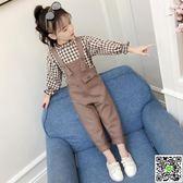 童裝女 童裝女童秋裝2018新款兒童背帶褲套裝大童洋氣時髦韓版潮衣兩件套 城市玩家