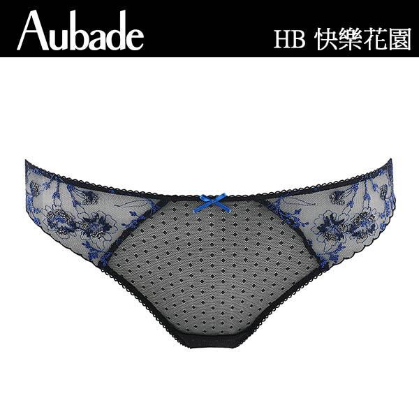 Aubade-快樂花園B-D蕾絲有襯內衣(藍)HB