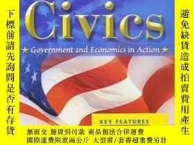 二手書博民逛書店Civics:罕見Government And Economics In Action Test Prep For