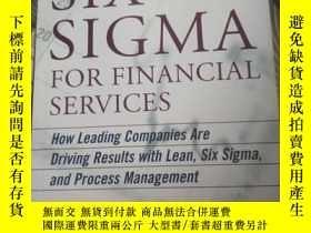 二手書博民逛書店SIX罕見SIGMA FOR FINANCIAL SERVICE