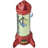 小禮堂 迪士尼 三眼怪 純棉方巾 附火箭收納包 25x25cm (綠色款) 4992272-70396