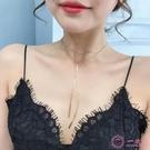 項鍊項鍊女韓版簡約脖子飾品氣質個性項圈頸帶頸項鍊網紅鎖骨項鍊