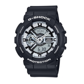 CASIO/G-SHOCK/雙顯亮眼時尚運動錶/GA-110BW-1ADR