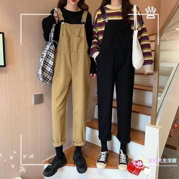 吊帶褲 2020新款時尚可愛韓版寬鬆日系牛仔女夏減齡洋氣學院風【星時代生活館】