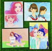【書寶二手書T3/嗜好_AAA】少女習作_慶光創作系列明信片D_6款合售