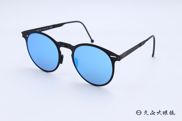 ROAV 偏光太陽眼鏡 Riviera - Mod.8103 ( 霧黑框/藍水銀 ) 薄鋼折疊墨鏡