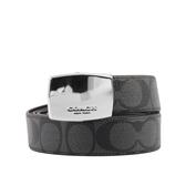 【COACH】C LOGO皮革雙頭禮盒組(灰/黑) F65242 CQBK