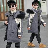 中長款中大童韓版外套 兒童加絨加厚夾克外套 7Plus羽絨外套男孩 棉襖秋冬男寶寶棉衣