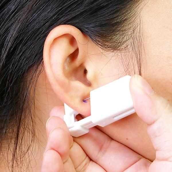 一次性打耳洞工具無痛穿耳器穿鼻孔鼻釘鼻洞 防過敏耳釘自助穿耳「青木鋪子」