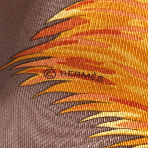 HERMES 愛馬仕 黃色絲質花豹圖紋大方巾 Scarf 【二手名牌BRAND OFF】