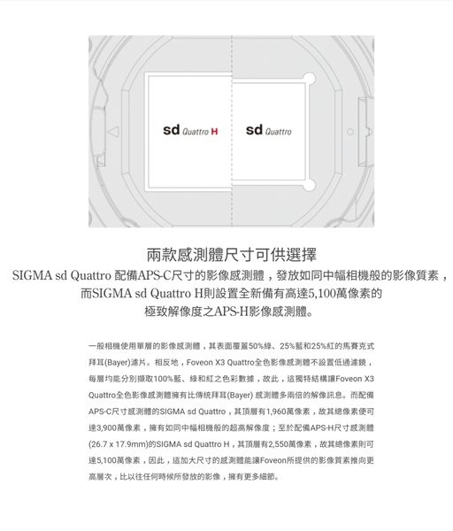 【聖影數位】SIGMA sd Quattro 單機身 sdQ 恆伸公司貨