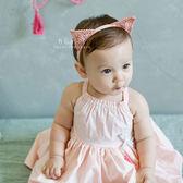 貓耳金絲刺繡嬰兒髮帶 髮圈 髮束 頭飾