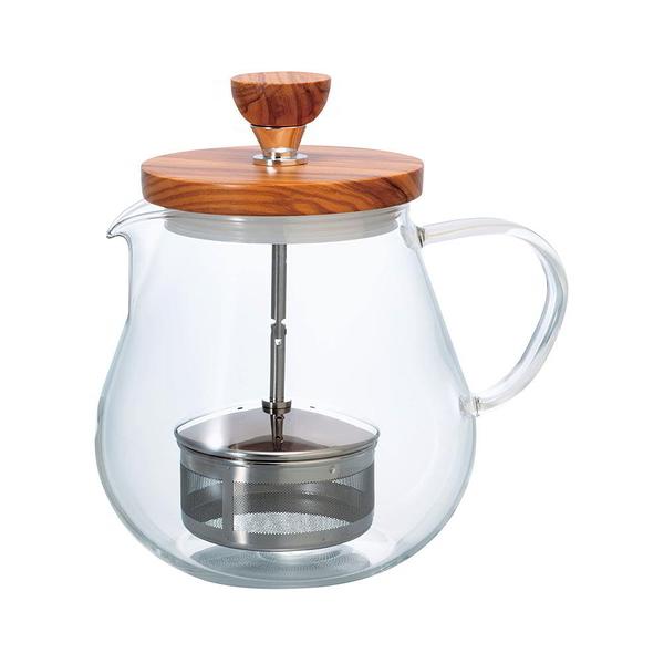 日本HARIO 橄欖木濾壓茶壺 700ml