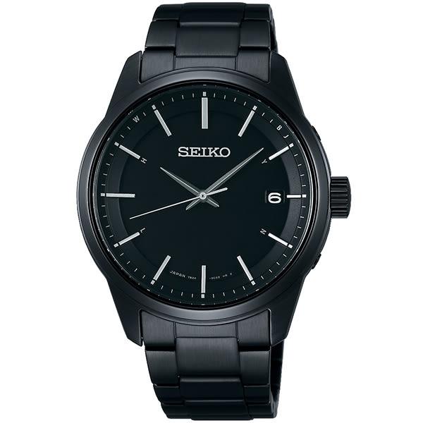 【台南 時代鐘錶 SEIKO】精工 Spirit 太陽能電波腕錶 SBTM235J@7B24-0BJ0SD 黑鋼 40mm