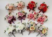 娃娃屋樂園~💐玫瑰系列胸花組💐-6入可選色 每組990元/婚禮小物/喜糖籃/情人節花束/婚慶用品