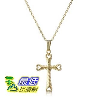 [美國直購] 14k Yellow Gold-Filled Embossed and Hand Engraved Cross Pendant Necklace, 18 吊墜項鍊