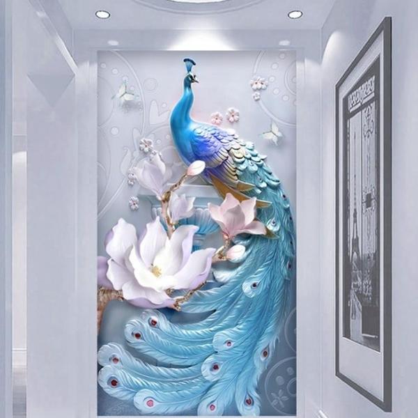 墻紙壁畫走道浮雕玄關現代簡約浮雕