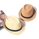 紳士帽 爵士帽草帽男女出游沙灘帽遮陽英倫帽子親子兒童禮帽休閒店員涼帽 快速出貨