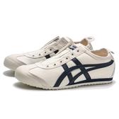ASICS MEXICO 66 米白 布面 麂皮 深藍LOGOG 休閒鞋 女 (布魯克林) 1183A360205