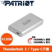 全新  Patriot美商博帝 EVLVR Thunderbolt 3 512GB SSD行動固態