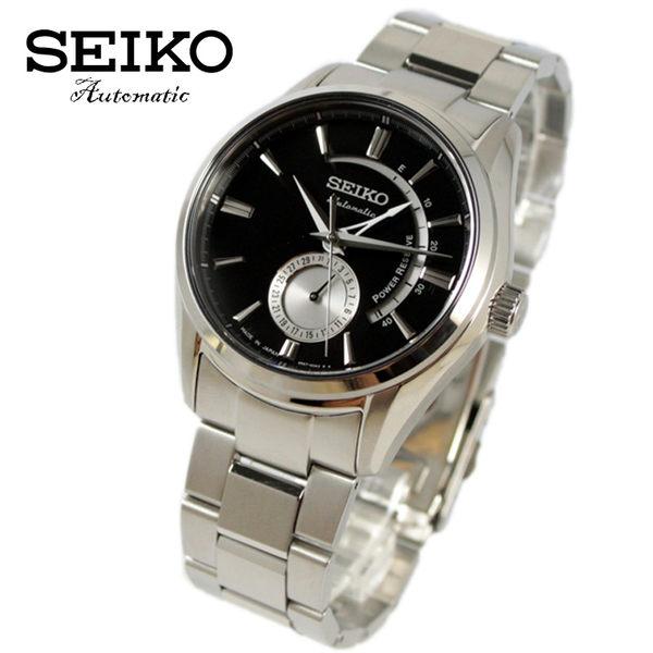 【萬年鐘錶】SEIKO PRESAGE精工4R57機械男錶 指針日期  透明底蓋 銀x黑 42mm 4R57-00A0D(SSA305J1)