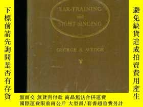 二手書博民逛書店EAR-TRAINING罕見AND SIGHT-SINGING(