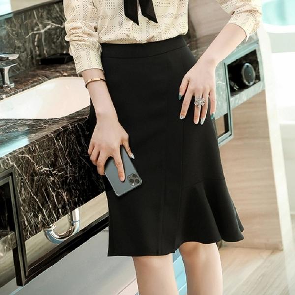 及膝顯瘦上班魚尾裙 [21X013-PF]美之札
