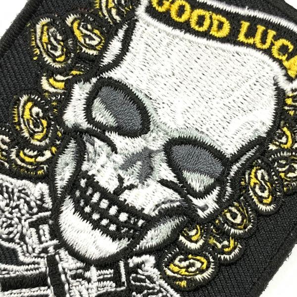 骷髏 Good Luck GANG 刺繡徽章 PATCH 胸章 美式 幫派嘻哈饒舌 立體繡貼 裝飾貼 繡片貼