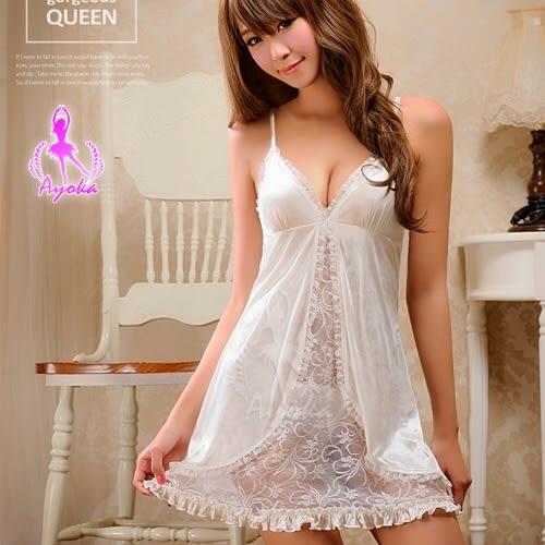 睡衣 性感睡衣 白色開叉性感情趣睡衣~星光密碼 J006-1