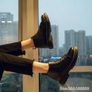 男靴 冬季加絨馬丁靴男高幫英倫風短靴子男百搭韓版潮黑色休閒中幫皮鞋 星河光年