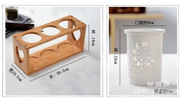 陶瓷筷子筒 餐具收納架 可瀝水 廚房用品