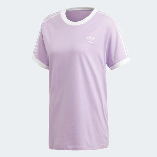ADIDAS ORIGINALS 3-STRIPES 女裝 短袖 休閒 純棉 基本款 粉紫【運動世界】DV2589