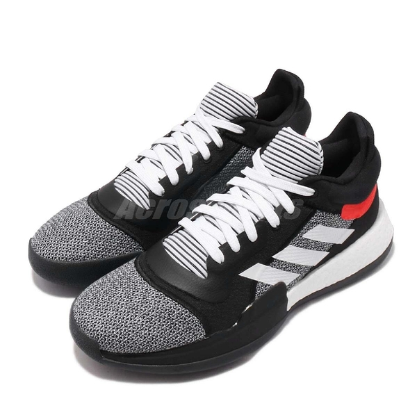 adidas 籃球鞋 Marquee Boost Low 黑 白 男鞋 BOOST中底 John Wall 運動鞋【PUMP306】 D96931