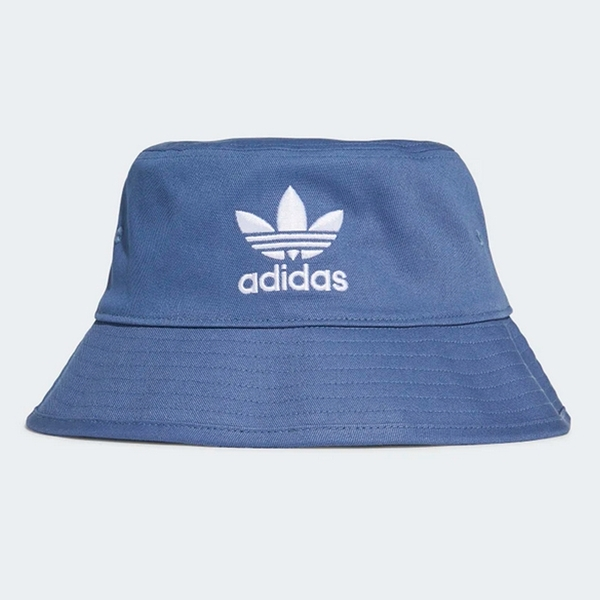 ADIDAS 漁夫帽 BUCKET HAT 藍 三葉草 電繡 印花 休閒 (布魯克林) GN4904
