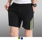 【男人幫大尺碼】K1605*大尺碼運動線條休閒短褲/現貨不用等/加大尺碼