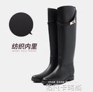 冬季雨鞋女時尚款外穿雨靴加絨保暖高筒水靴長筒女士水鞋防水防滑 依凡卡時尚
