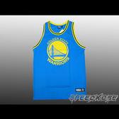NBA 復古-大LOGO 球衣 勇士隊-水藍色 網狀透氣材質 CURRY 創信 # 8332801-023 ☆speedkobe☆