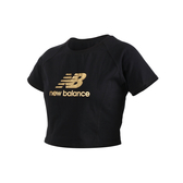 NEW BALANCE 女短版短袖T恤(短袖上衣 休閒 NB≡體院≡ WT03503