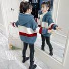 女童外套 加絨加厚羊羔絨外套2021新款韓版兒童春夾棉洋氣毛毛衣冬裝【快速出貨八折鉅惠】