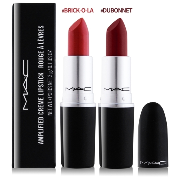 M.A.C 顯色豐潤唇膏(3g)#BRICK-O-LA-贈專櫃精華液試用包(隨機出貨)X1