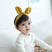 寶寶發帶兔耳朵韓國時尚潮妞發飾兒童防滑頭箍嬰兒頭花小女孩頭飾【東京衣秀】