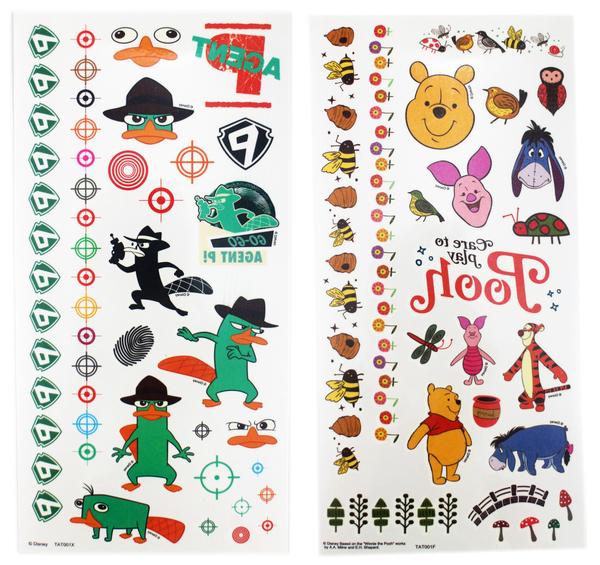 【卡漫城】 迪士尼 紋身貼紙 三款選一 ㊣版 轉印貼紙 泰瑞 維尼熊 鴨嘴獸 Freb 小熊維尼 Winnie Pooh